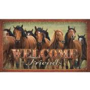River's Edge Products Horses Door Mat