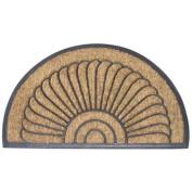 Shell Half Round Recycled Rubber & amp; Coir Door Mat