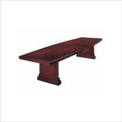 DMi Keswick Boat Shaped 3m Conference Table with Slab Base in Cherry