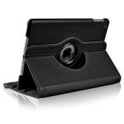 Insten For Apple iPad Air 360 Swivel Leather Case, Black