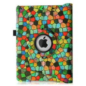 Fintie iPad Air 2 Case - 360 Degree Rotating Stand Case with Smart Cover Auto Sleep / Wake Feature, Mosaic