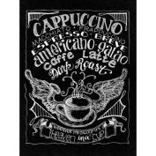 Chalkboard Canvas Print 30cm x 40cm -Cappuccino