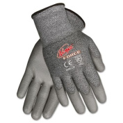 CREWS, INC. N9677L Ninja Force Polyurethane Coated Gloves, Large, Grey