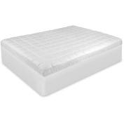 BioPEDIC Luxury Euro Top Anti-Microbial Mattress Pad with Repel-A-Tex