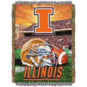 NCAA 120cm x 150cm Tapestry Throw Home Field Advantage Series- Illinois