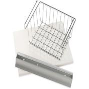 Wallscapes/More Inside Shelf/Silver Bracket/Small Basket
