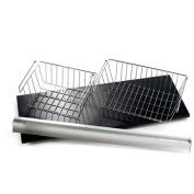 Wallscapes/More Inside 30cm x 80cm Shelf, 80cm Silver Bracket, Small Basket and Medium Basket Set