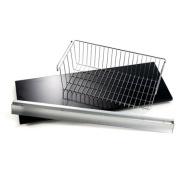 Wallscapes/More Inside 30cm x 80cm Shelf, 80cm Silver Bracket and Large Basket Set