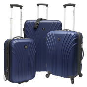 Travellers Choice Cape Verde 3-Piece Ultra-Lightweight Hardsided Expandable Spinner Luggage Set