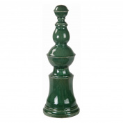Privilege International Glossy Ceramic Finial - Green