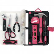Apollo Tools 126-Piece Kitchen Drawer Tool Kit, Pink