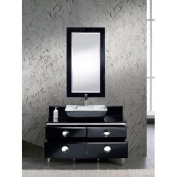 Fresca Moselle 120cm Modern Glass Bathroom Vanity Set with Mirror