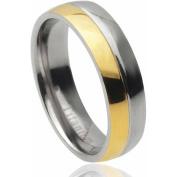 Daxx Men's Titanium Two-Tone Fashion Ring, 6mm