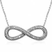 1/10 Carat T.W. Diamond Sterling Silver Infinity Pendant