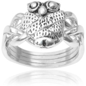 Alexandria Sterling Silver Owl Puzzle Ring