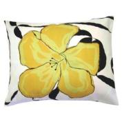 Yellow Hibiscus Flower Pillow