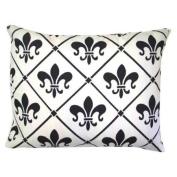 White Fleur de Lis Pillow
