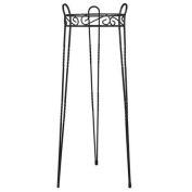 CobraCo Canterbury 80cm Black Scroll Top Plant Stand