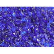 Exotic Pebbles & Aggregates Ocean Blue Glass Pebbles, 0.9kg