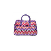 All-Seasons 812014-172 50cm New Age ZigZag Carry-On Shoulder Tote Duffel Bag, Purple Trim