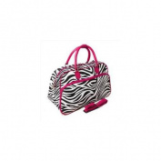 All-Seasons 812014-163-F 50cm Zebra Carry-On Shoulder Tote Duffel Bag, Pink