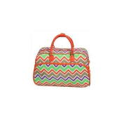 All-Seasons 812014-171 50cm New Age ZigZag Carry-On Shoulder Tote Duffel Bag, Orange Trim
