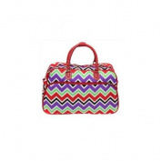 All-Seasons 812014-170 50cm New Age ZigZag Carry-On Shoulder Tote Duffel Bag, Red Trim
