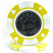 Trademark Poker Jackpot Coin-Inlaid Poker Chips
