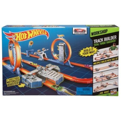Hot Wheels Total Turbo Takeover >> Hot Wheels Track Builder Total Turbo Takeover Track Set by Hot Wheels - Shop Online for Toys in ...