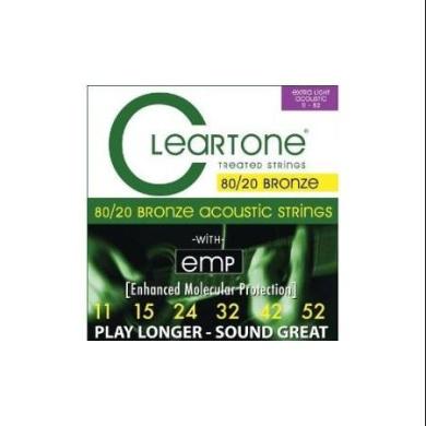 Cleartone 7611 80/20 Bronze Acoustic String Set Custom Light