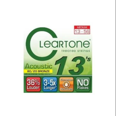 Cleartone 7613 80/20 Bronze Acoustic String Set, Medium