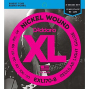 D'Addario EXL170-8 Nickel Wound Electric Bass 8 String Soft / Long