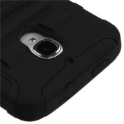 Insten Black/Black Advanced Heavy Duty Armour Stand Cover Case For ALCATEL One Touch Fierce 7024W