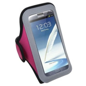 INSTEN Vertical Pouch Universal Hot Pink Sport Armband For for Samsung Galaxy Note 3 N9000 N900v