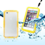 GEARONIC Premium Waterproof Shockproof Dirt Snow Proof Durable Case Cover Skin for Apple iPhone 6 Plus 14cm - Yellow