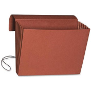 Smead Wallet, 13cm - 0.6cm Expansion, Flap and Cord Closure, Legal Size, Redrope, 10 per Box