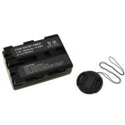 Insten FOR SONY 2X NP-FM55H BATTERY PACK+LENS CAP DSLR A100