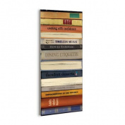 Stupell Industries Classic Cook Books Bindings Graphic Art