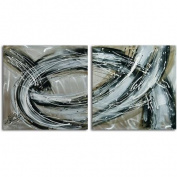 Omax Decor 'Swept Away' 2 Piece Painting on Canvas Set