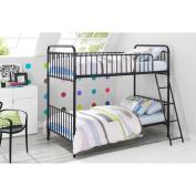 9 by Novogratz Berkshire Metal Twin/Twin Bunk Bed, Multiple Colours