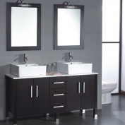 Cambridge Plumbing Silkwood 150cm Double Bathroom Vanity Set with Mirror
