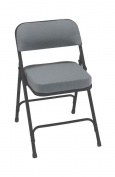"""Charcoal Pattern """"2"""""""" Fabric Upholstered Seat Folding Chair, 2 Pack"""""""