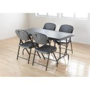 Iceberg Enterprises Folding Chair in Charcoal