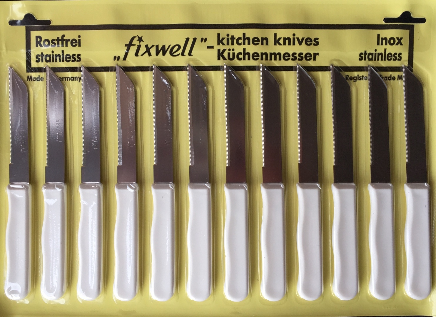 Surprising Fixwell Knife Set 02016 White Colour Genuine Product Made In Germany Interior Design Ideas Truasarkarijobsexamcom