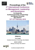 The Proceedings of the 3rdinternational Conference on Management, Leadership Andgovernance