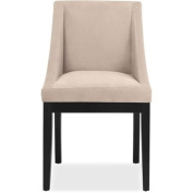 DHI Oxford Swoop Back Upholstered Dining Chair, Multiple Colours