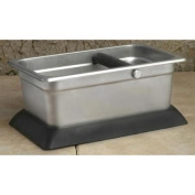 Rectangular Stainless Steel Knock Box w Rubber Base