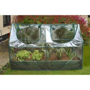 Zenport SH3212A+BTP Garden Raised Bed and Cold Frame Greenhouse Cloche for Easy Access Protected Gar