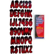 Hardline Products REBKG200 7.6cm Boat Letter And Number Kit - Black And Red