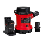 Johnson 01604-002 1600 GPH Heavy Duty Automatic Bilge Pump with Electromagnetic Switch, 24V